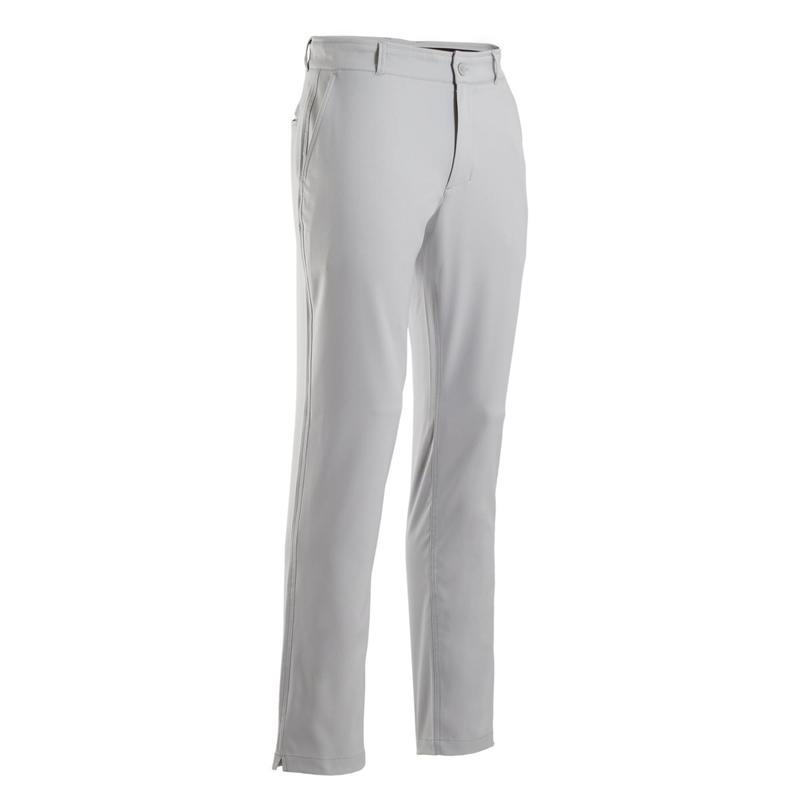 Men's golf trousers WW500 grey