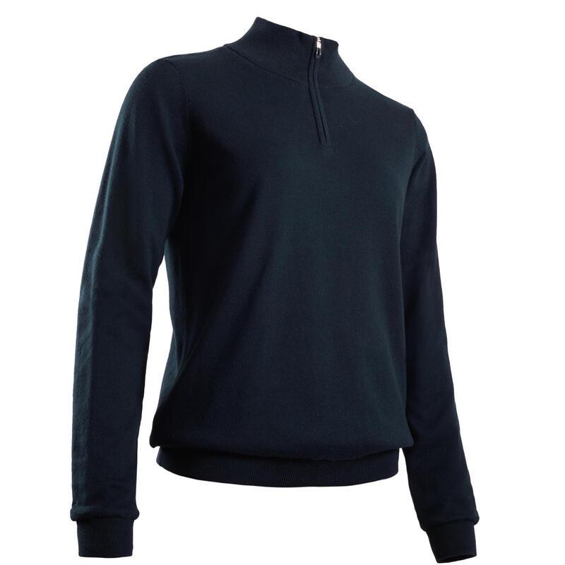 Maglione antivento golf donna 500 blu