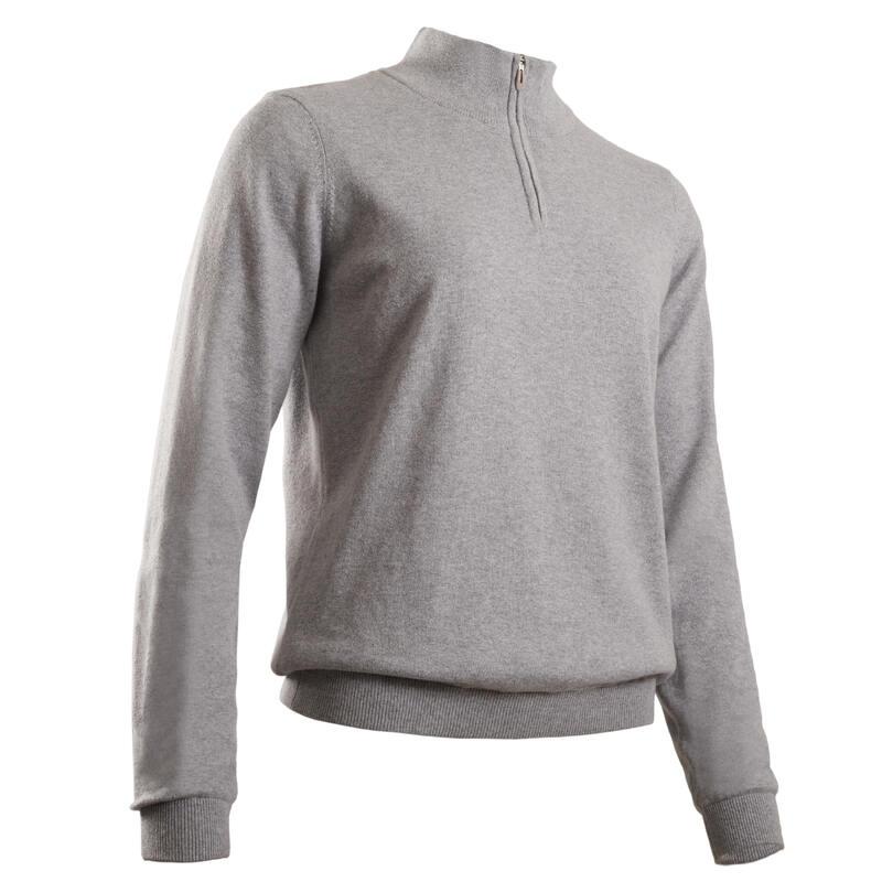 Maglione antivento golf donna 500 grigio