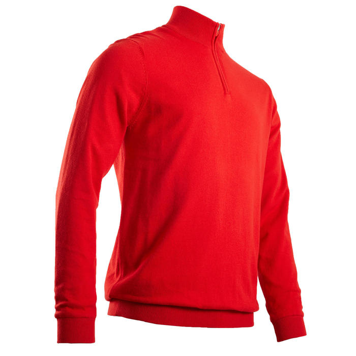 PULL WINDSTOPPER HOMME TEMPS TEMPERE ROUGE