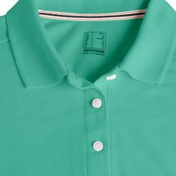 Golfpolo voor dames turquoisegroen