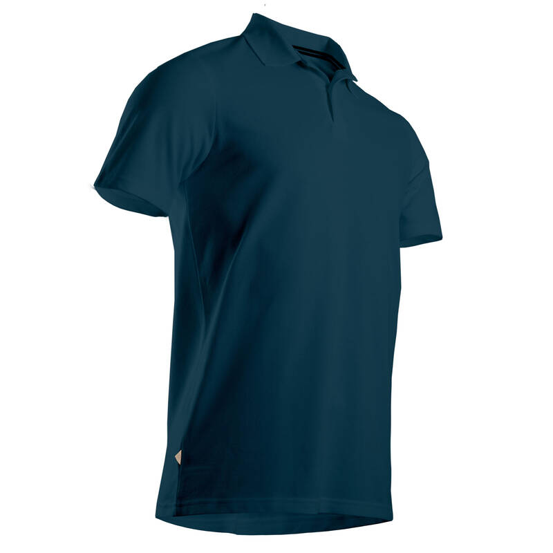 PÁNSKÉ GOLFOVÉ OBLEČENÍ DO MÍRNÉHO POČASÍ Golf - GOLFOVÉ POLO MODRÉ  INESIS - Golfové oblečení