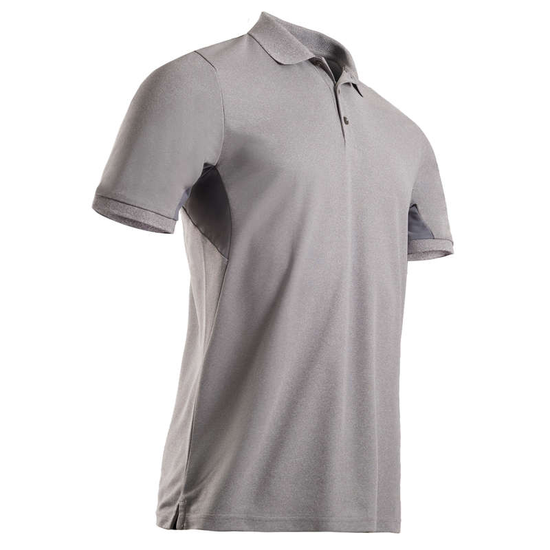 MENS WARM WEATHER GOLF CLOTHING Golf - Men's Light Polo Shirt - Grey INESIS - Golf Clothing