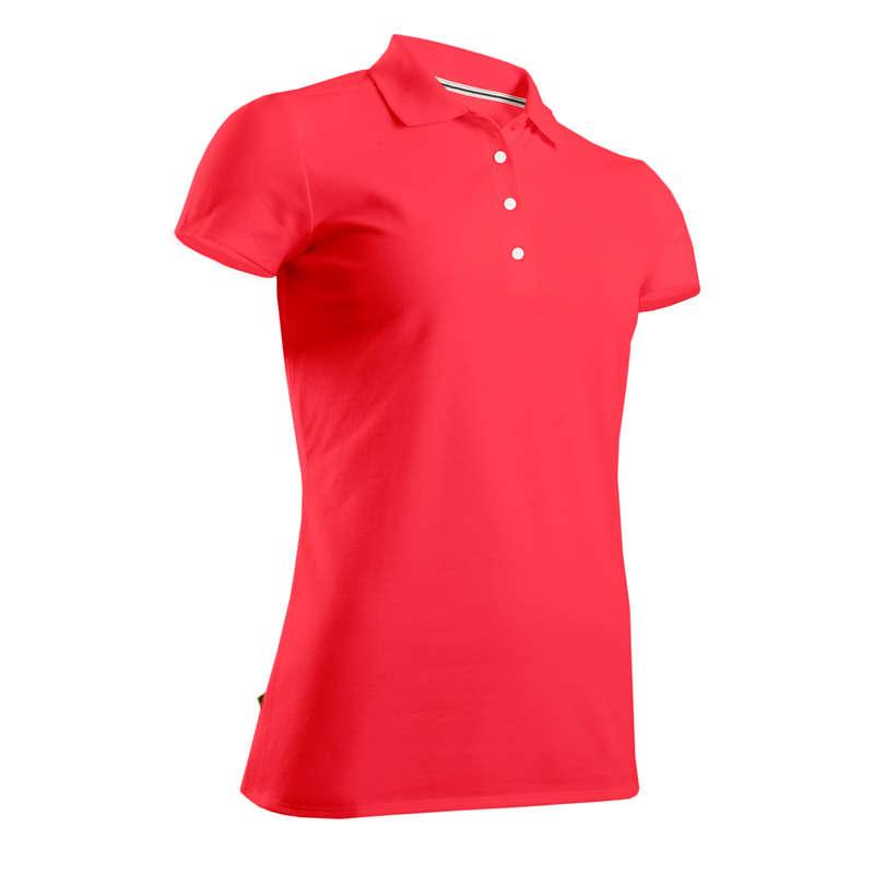 DÁMSKÉ GOLFOVÉ OBLEČENÍ DO CHLADNĚJŠÍHO POČASÍ Golf - GOLFOVÉ POLO RŮŽOVÉ  INESIS - Golfové oblečení