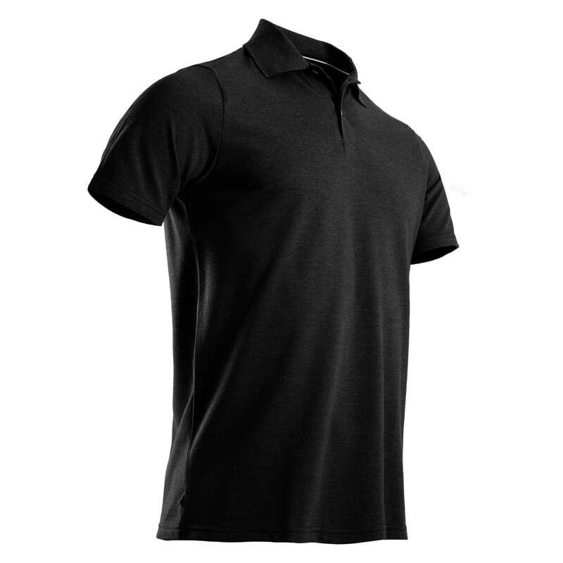 PÁNSKÉ GOLFOVÉ OBLEČENÍ DO CHLADNĚJŠÍHO POČASÍ Golf - GOLFOVÉ POLO ŠEDÉ MELÍROVANÉ INESIS - Golfové oblečení