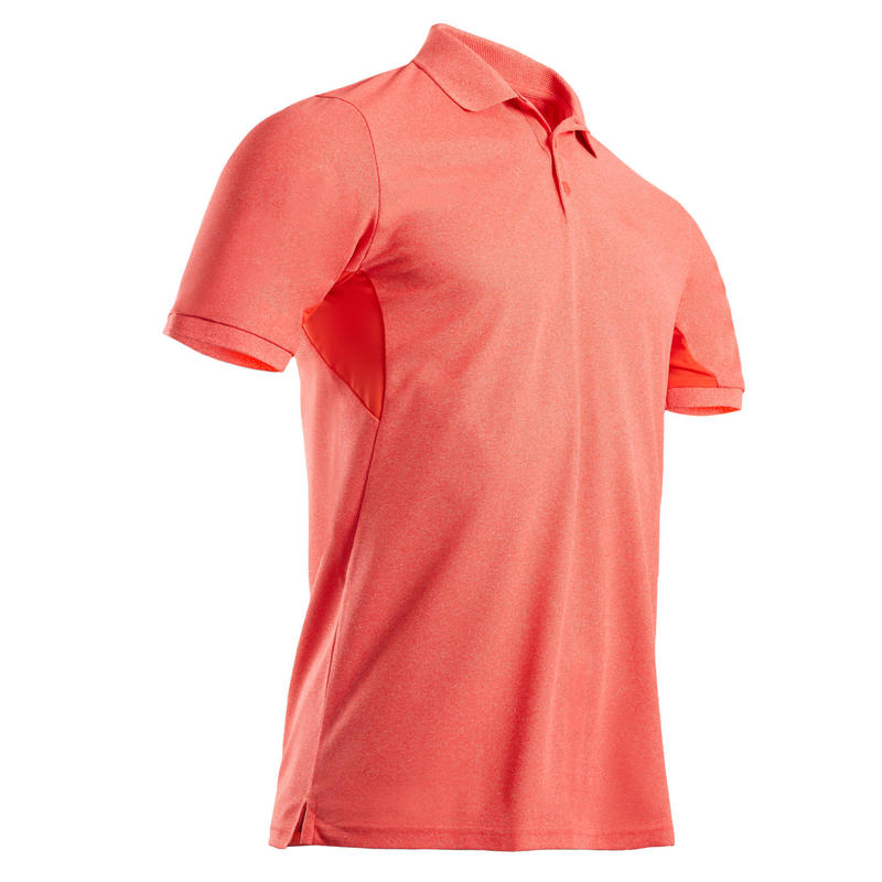 Men's golf short-sleeved polo shirt WW500 coral red