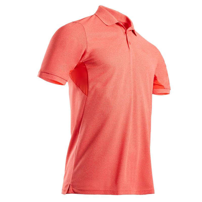 Polo de golf manches courtes homme WW500 rouge corail