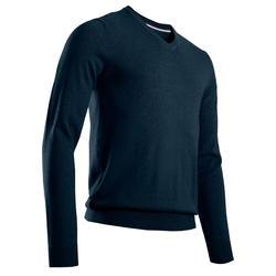 Camisola de Golf MW500 Gola em V Homem Azul marinho