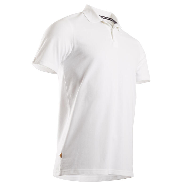 Polo de golf manches courtes homme MW500 blanc