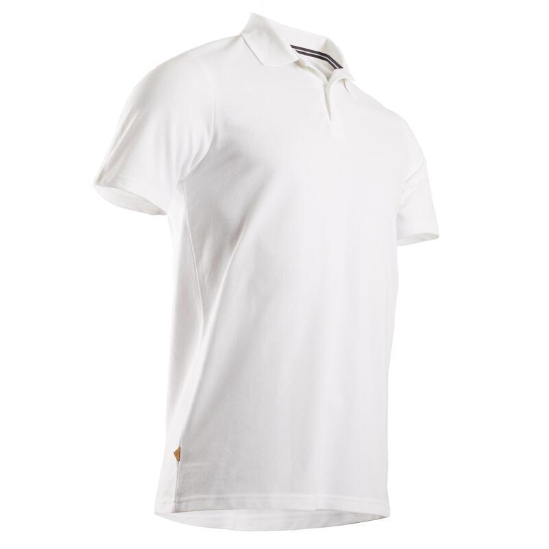 Polo golf uomo 500 bianca