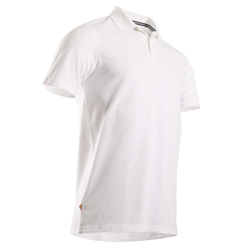 ODZIEŻ DO GOLFA MĘSKA UMIARKOWANA TEMP. Golf - Koszulka polo do golfa biała INESIS - Odzież i obuwie do golfa
