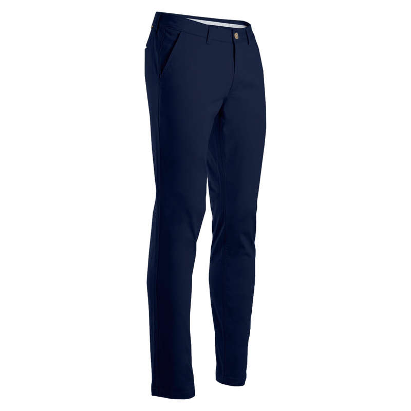 MENS MILD WEATHER GOLF CLOTHING Golf - Men's Trousers - Navy Blue INESIS - Golf Clothing
