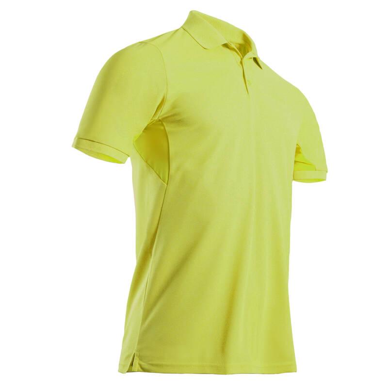 PÁNSKÉ GOLFOVÉ OBLEČENÍ DO TEPLÉHO POČASÍ Golf - GOLFOVÉ POLO WW500 ŽLUTÉ  INESIS - Golfové oblečení