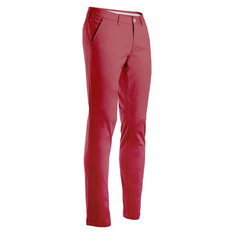 ABBIGLIAMENTO GOLF UOMO TEMPO MITE Golf - Pantaloni golf uomo rosa scuro INESIS - Pantaloni golf