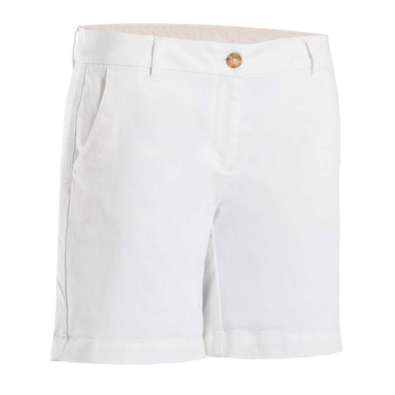 WOMENS MILD WEATHER GOLF CLOTHING Golf - WHITE W MW SHORTS INESIS - Golf Clothing