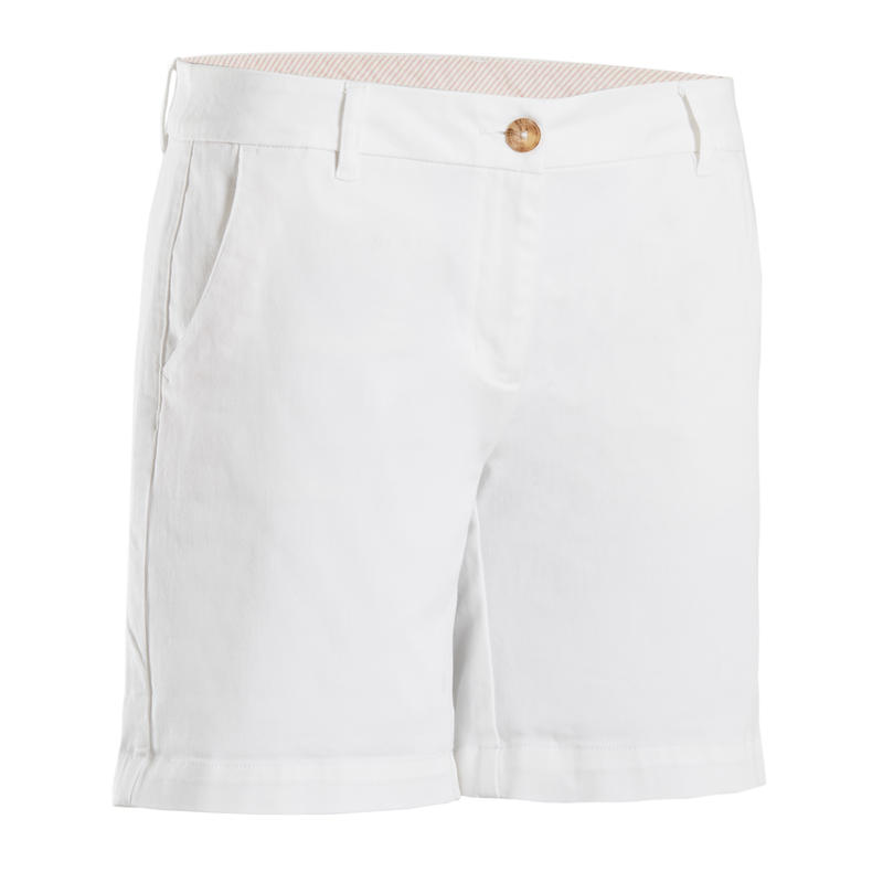 WOMEN'S GOLF BERMUDA SHORTS WHITE