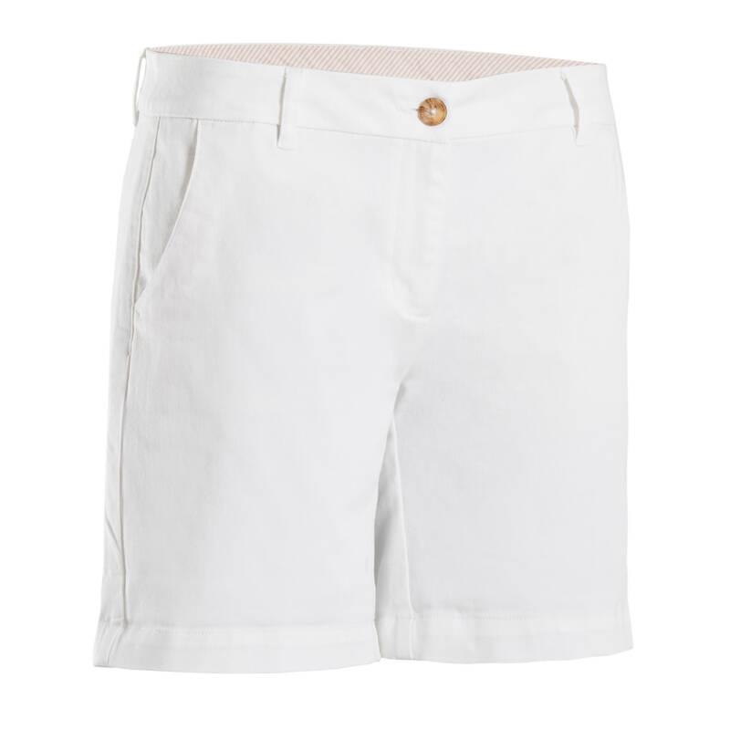 DÁMSKÉ GOLFOVÉ KRAŤASY - MÍRNÉ POČASÍ Golf - GOLFOVÉ KRAŤASY MW500 BÍLÉ INESIS - Golfové oblečení