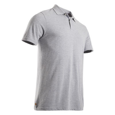 Men's Golf Short Sleeve Polo Shirt - Mottled Grey