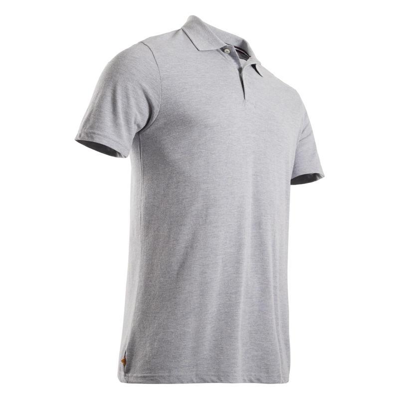 เสื้อโปโลแขนสั้นผู้ชายสำหรับใส่เล่นกอล์ฟ (สีเทา Mottled Grey)