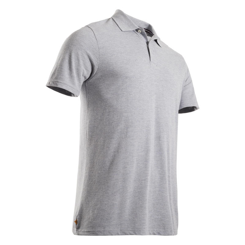 Polo de golf manches courtes homme MW500 gris chiné