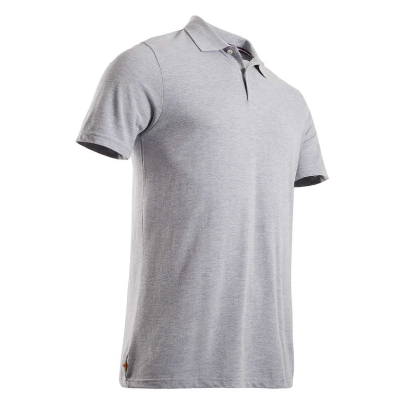 MENS MILD WEATHER GOLF CLOTHING Golf - INTAC'TEE golf polo shirt grey marl INESIS - Golf Clothing