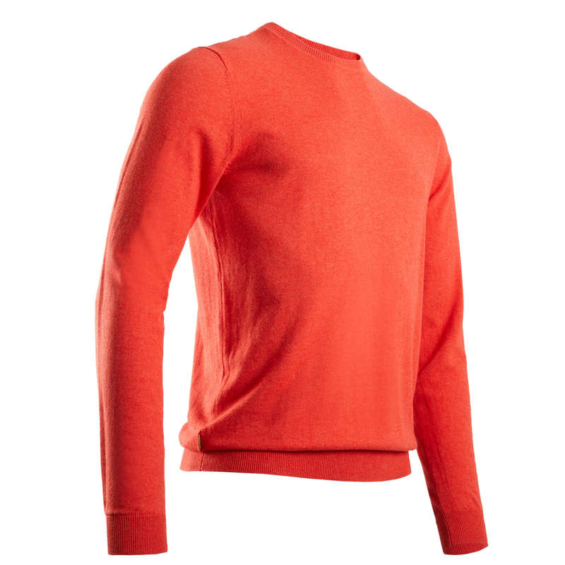 MENS MILD WEATHER GOLF CLOTHING Golf - Men's Pullover - Mottled Coral INESIS - Golf Clothing