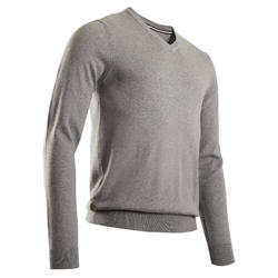 PULL GOLF COL V POUR HOMME GRIS