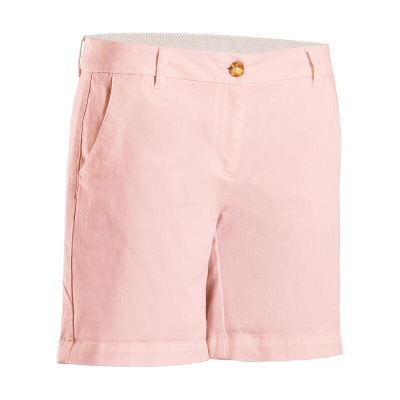 Short de golf femme MW500 rose pale