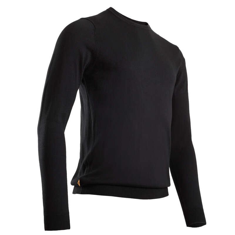 MENS MILD WEATHER GOLF CLOTHING Golf - Men's Pullover - Black INESIS - Golf Clothing