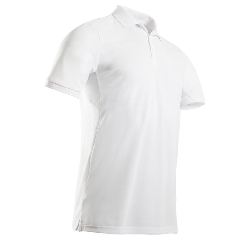 Polo de golf manches courtes homme WW500 blanc