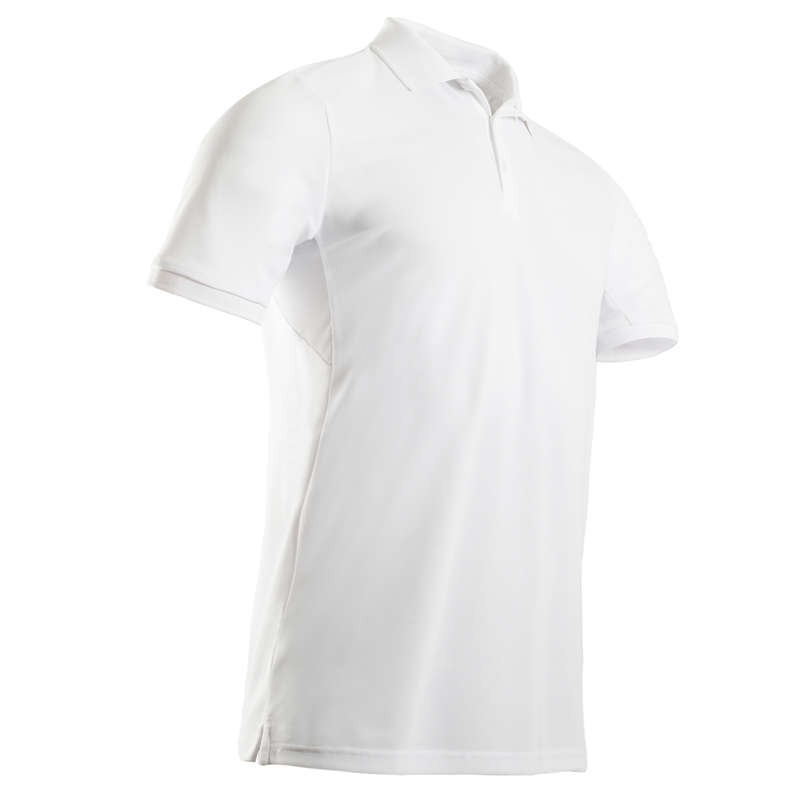 MENS WARM WEATHER GOLF CLOTHING Golf - Men's Light Polo Shirt - White INESIS - Golf Clothing