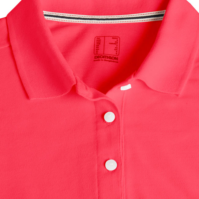 WOMEN'S GOLF POLO SHIRT STRAWBERRY PINK