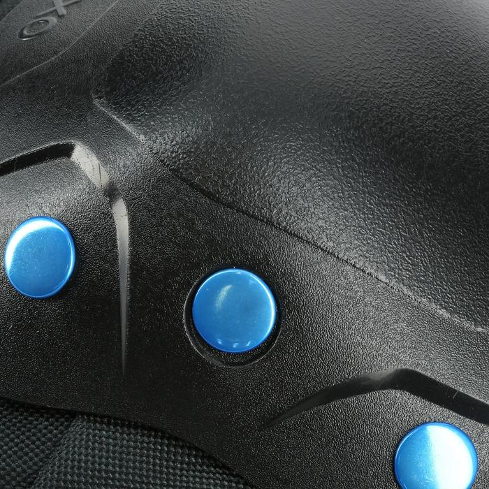 3er-Set Protektoren Inlineskates, Skateboard, Scooter FIT 5 Erw. schwarz/blau