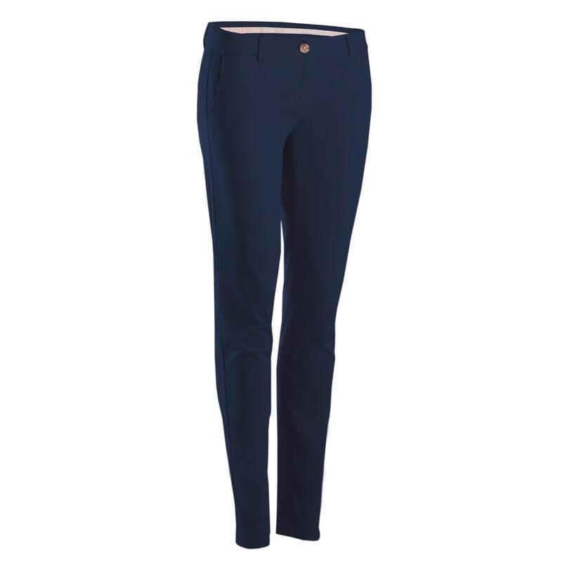 Pantalon de golf femme MW500 bleu marine