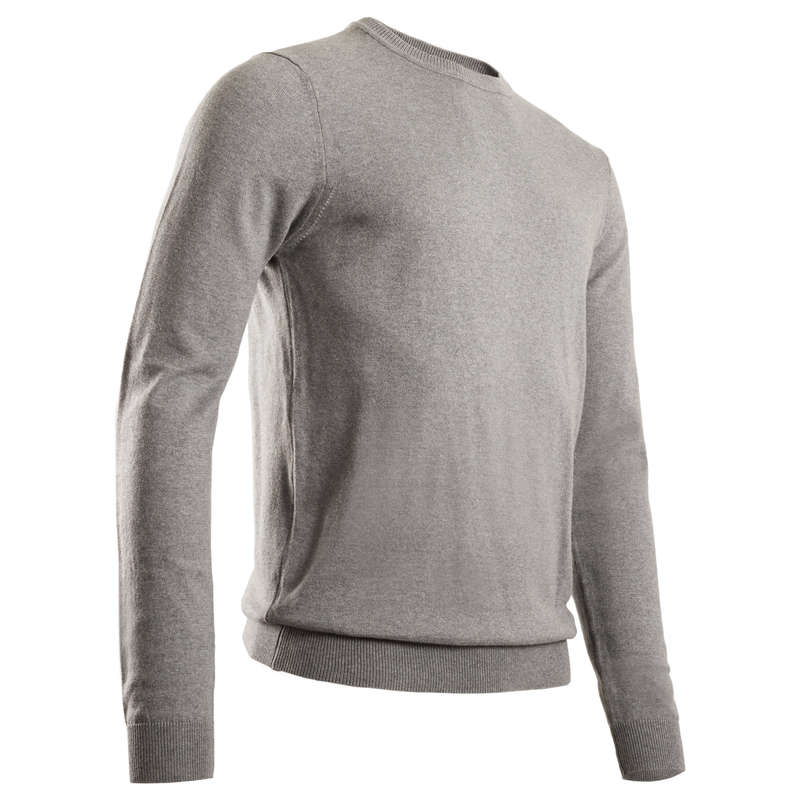 MENS MILD WEATHER GOLF CLOTHING Golf - Men's Pullover - Grey INESIS - Golf Clothing