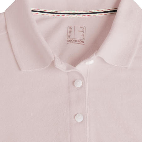 POLO GOLF FEMME ROSE PALE