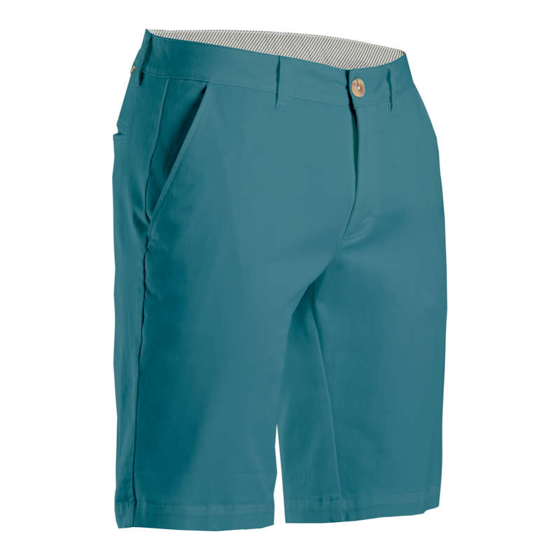 MENS MILD WEATHER GOLF CLOTHING Golf - Men's Golf Shorts - Turquoise INESIS - Golf Clothing