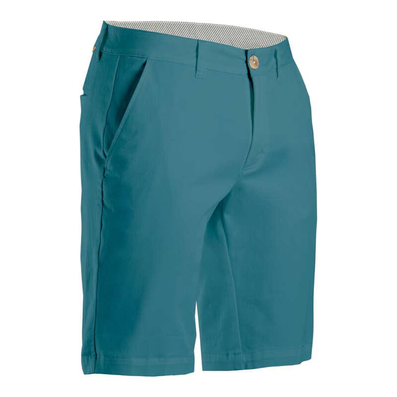 PÁNSKÉ GOLFOVÉ OBLEČENÍ DO CHLADNĚJŠÍHO POČASÍ Golf - GOLFOVÉ KRAŤASY TYRKYSOVÉ INESIS - Golfové oblečení