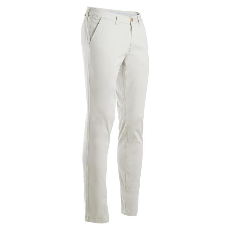 Pánské golfové kalhoty MW500 krémové