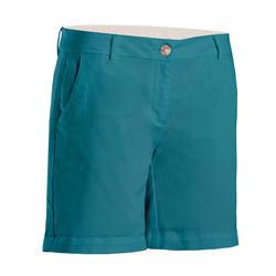 Golfbermuda voor dames grijsblauw