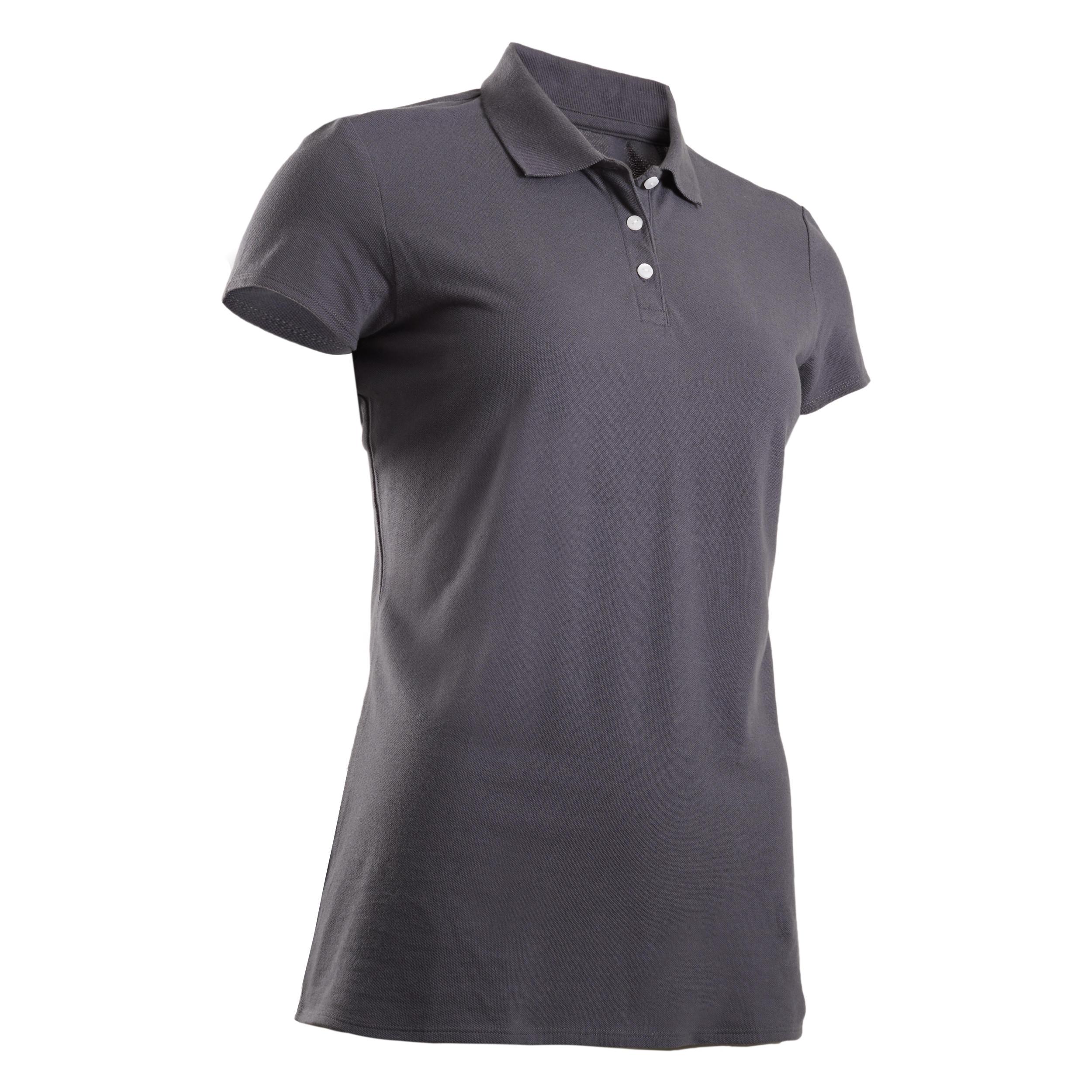 Tricou Polo Gri Damă imagine
