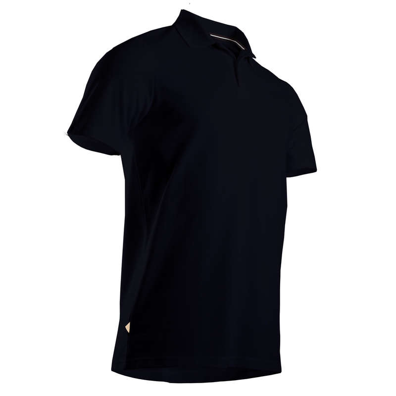 MENS MILD WEATHER GOLF CLOTHING Golf - INTAC'TEE black golf polo shirt INESIS - Golf Clothing
