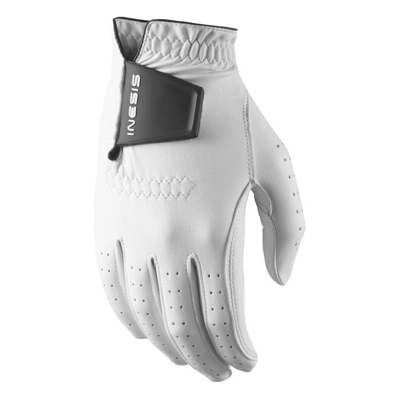 Men's golf left-handed soft glove white
