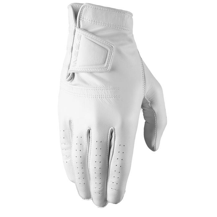 Golfhandschoen voor dames Tour linkshandig wit