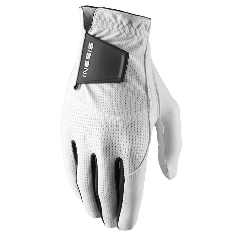 Men's left-handed WW golf gloves - white