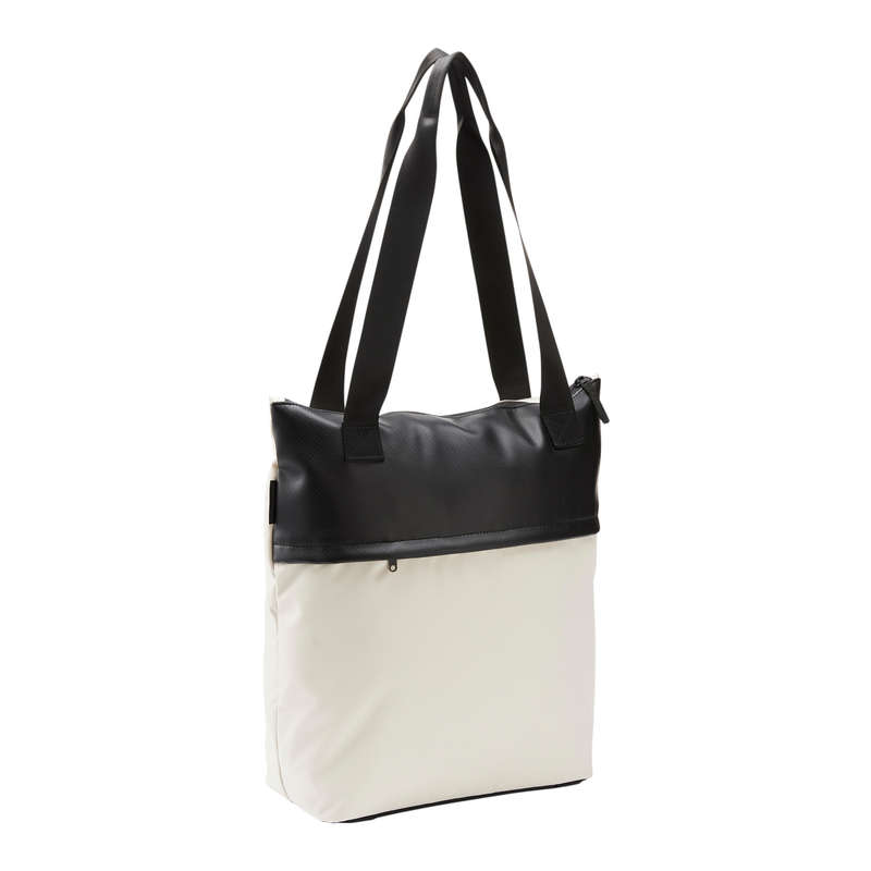 FITNESS CARDIO BAGS, ACCESS ALL LEVEL Fitness and Gym - Fitness Tote 20 L - Beige DOMYOS - Fitness and Gym