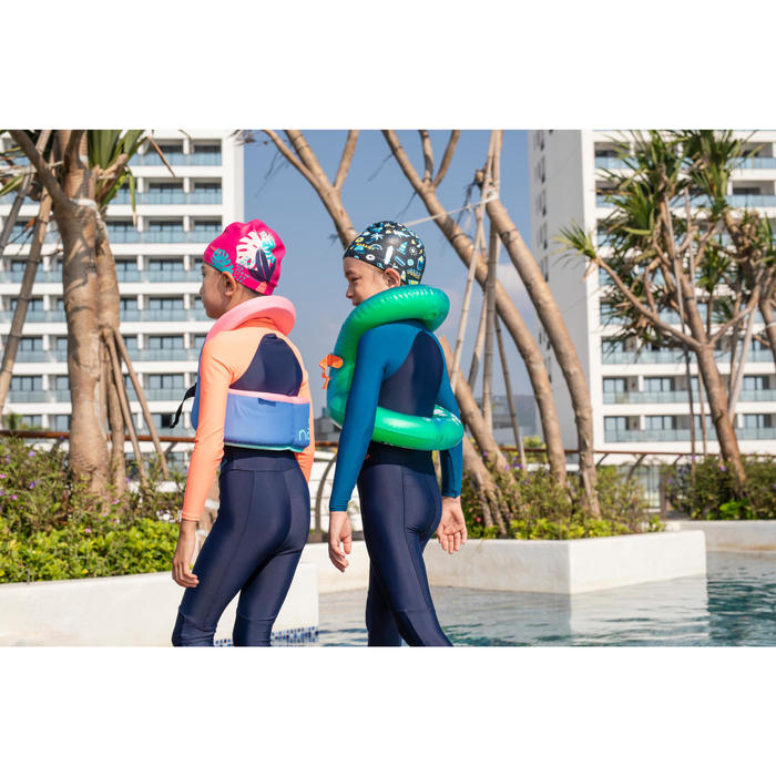 游泳潛水兩用泳裝珊瑚紅