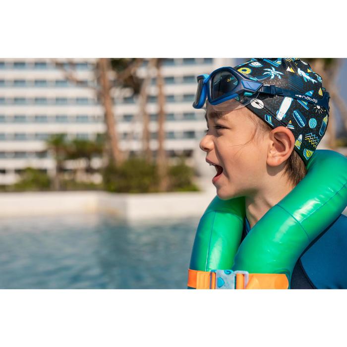 矽膠網眼泳帽500-印花滿版圖案