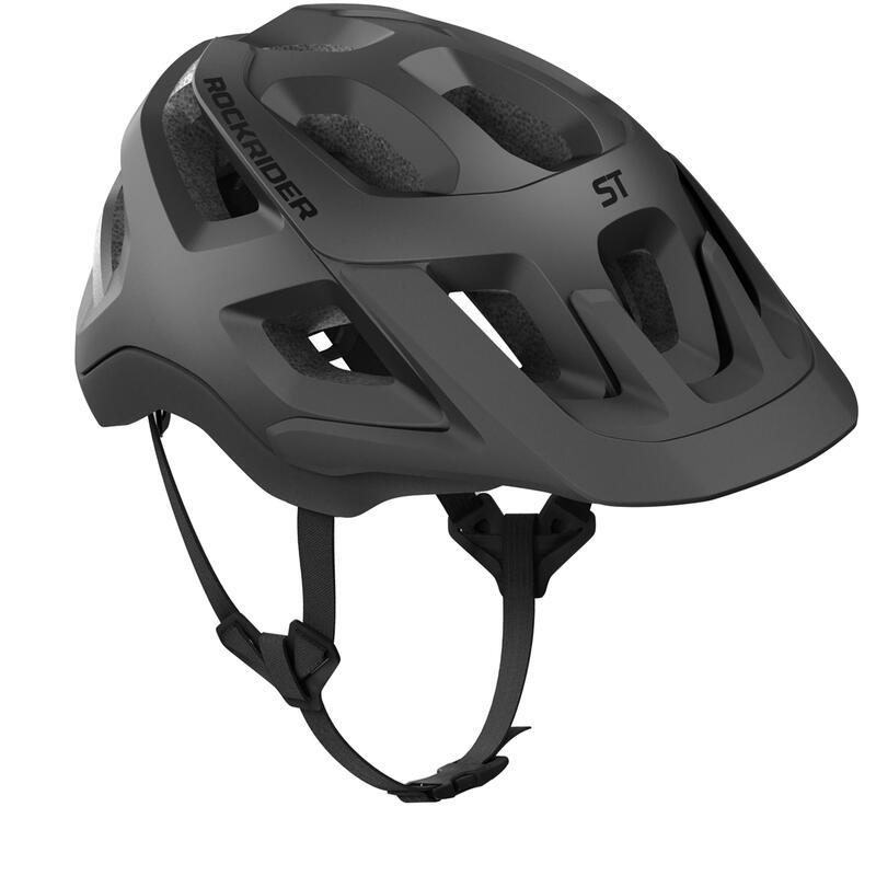 Yetişkin Dağ Bisikleti Kaskı - Siyah - ST 500