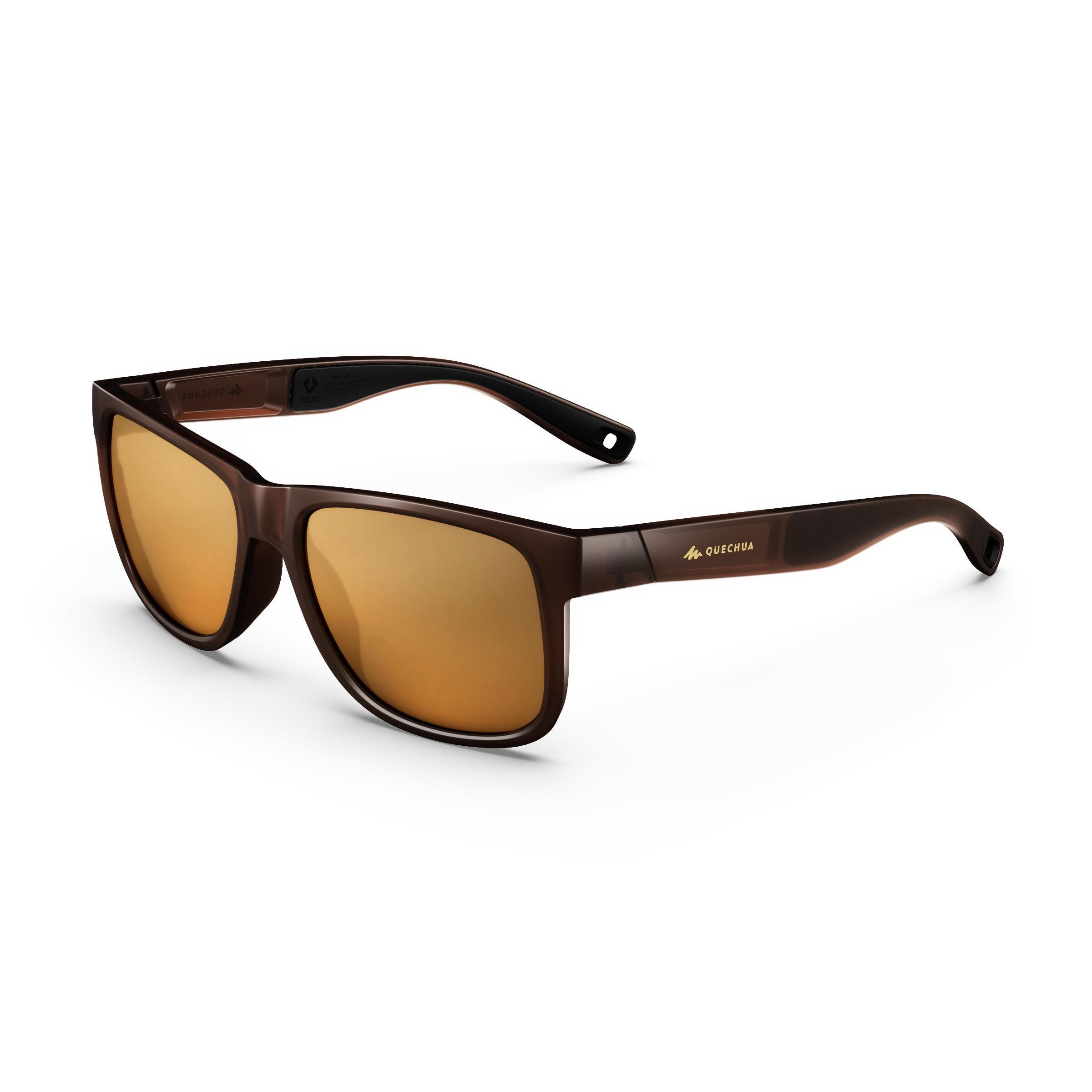 Sonnenbrille Wandern MH140Kategorie 3 Erwachseneschwarz | Accessoires > Sonnenbrillen > Sonstige Sonnenbrillen | Quechua